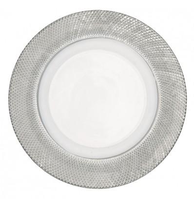 Plato cristal plata grande