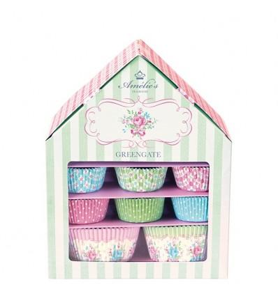 Caja con moldes para cupcakes