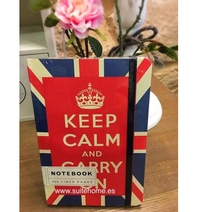 Libreta Keep Calm and Carry on
