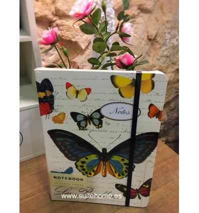 Libreta Grande Les Papillons