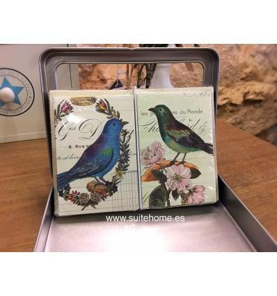 Tarjetas con sobre birds