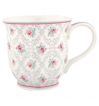 Taza de té Daisy gris claro