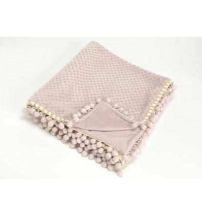 Manta Bebé rosa 75X100