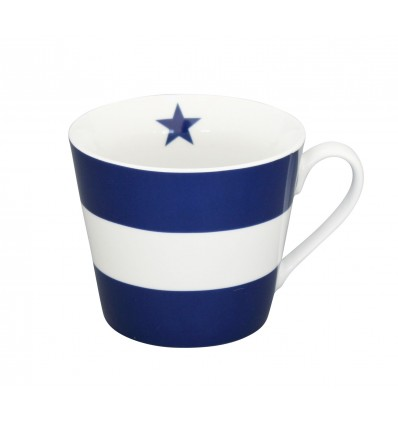 Happy cup, azul oscuro con lineas
