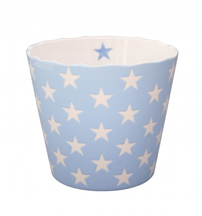 Happy Stars grande azul claro