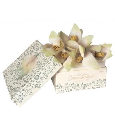 Caja con 5 flores Dorthea para colgar