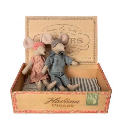 Muñecos Ratoncitos en caja
