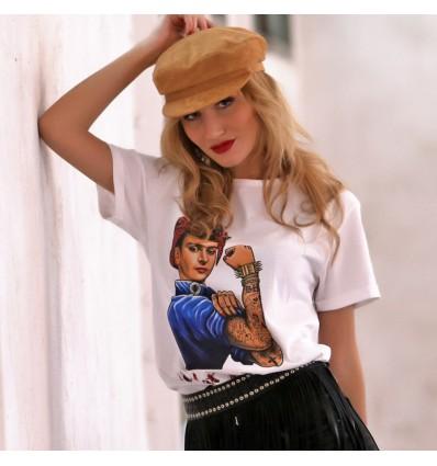 Camiseta Frida blanca