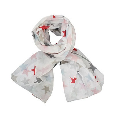 Pañuelo blanco estrellas