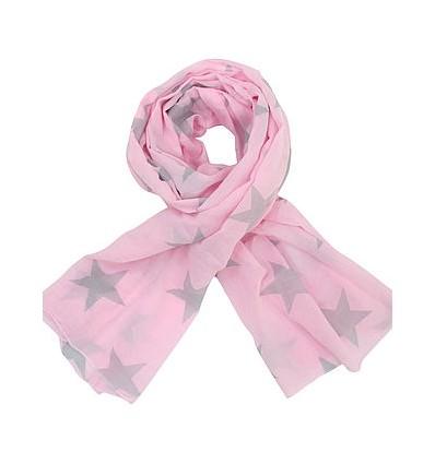 Pañuelo rosa estrellas