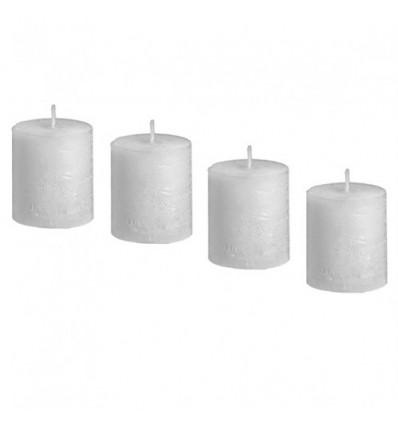 Set 4 velas blancas