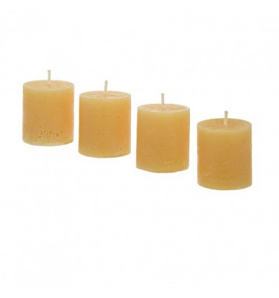 Set 4 velas amarillas